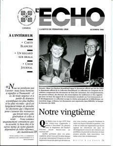 Echo la revue du personnel CRDI automne 1988